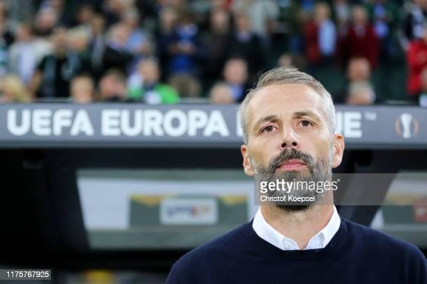 Marco Rose Head Coach of Borussia Monchengladbach during the UEFA Europa League group J match between Borussia Moenchengladbach and Wolfsberger AC at...