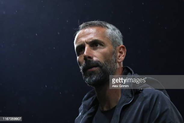 Marco Rose Manager of Borussia Monchengladbach during the DFB Cup first round match between SV Sandhausen and Borussia Moenchengladbach at BWTStadion...