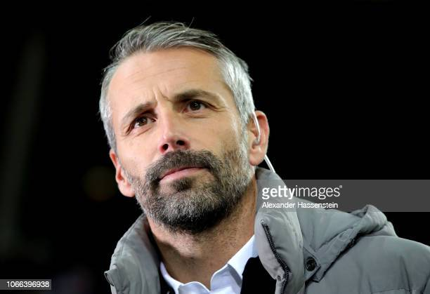 Marco Rose Manager of RB Salzburg looks on prior to the UEFA Europa League Group B match between RB Salzburg and RB Leipzig at Red Bull Arena on...