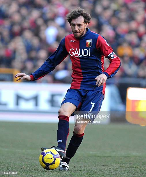 Marco Rossi of Genoa CFC in action during the Serie A match between Genoa CFC and AC Chievo Verona at Stadio Luigi Ferraris on February 7 2010 in...