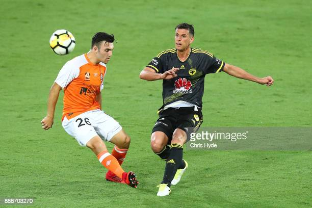Marco Rossi of the Phoenix kicks during the round 10 ALeague match between the Brisbane Roar and the Wellington Phoenix at Cbus Super Stadium on...