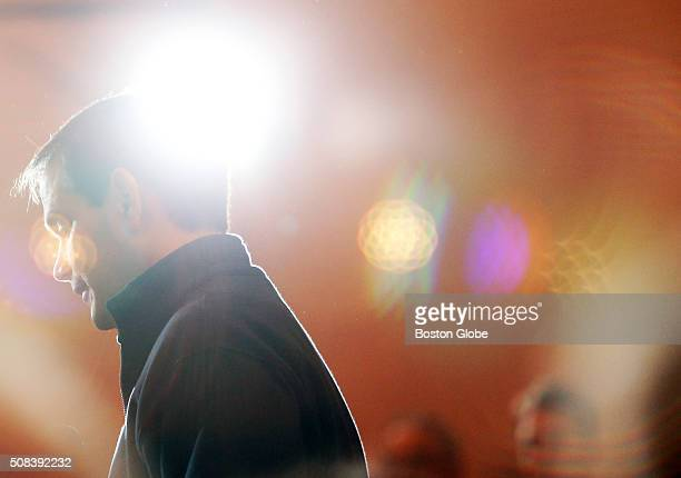Marco Rubio is surrounded by lens flare thrown off of his television lights as he speaks at a Portsmouth Town Hall in Portsmouth NH Feb 4 2016