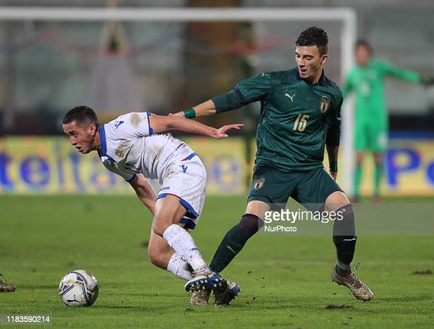 Marco Sala of Italy during the UEFA U21 European Championship Qualifier match between Italy and Armenia at Stadio Angelo Massimino on November 19,...