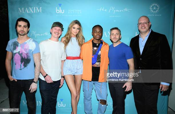 Marco Santini Matt Kessle Martha Hunt Daye Jack Nick Larkins and Robert Price attend the Maxim December Miami Issue Party Presented by blu on...