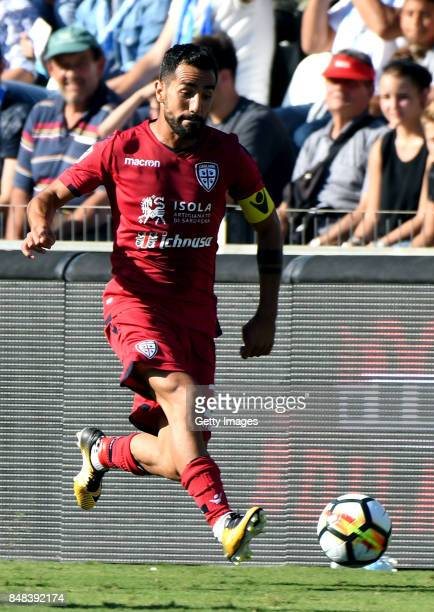 Marco Sau of Cagliari Calcio in action during the Serie A match between Spal and Cagliari Calcio at Stadio Paolo Mazza on September 17 2017 in...