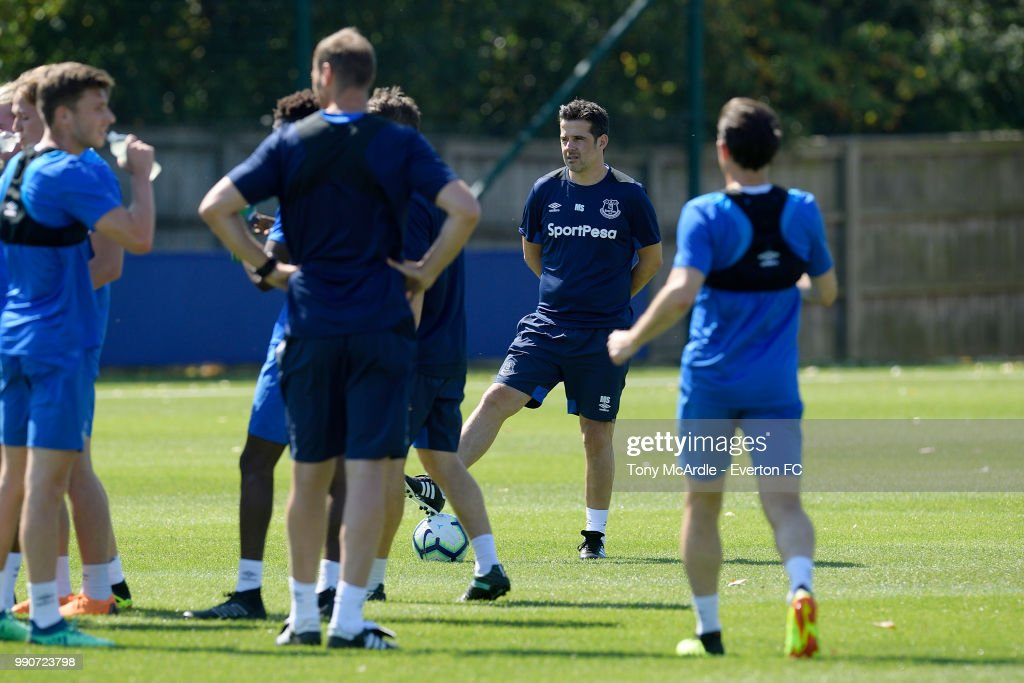 Marco Silva during the Everton training session at USM Finch Farm on July 3, 2018 in Halewood, England.