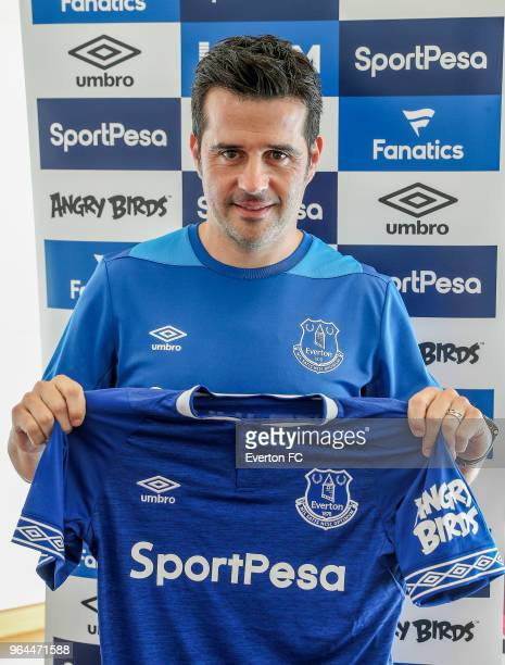 Marco Silva is unveiled as the new Everton manager on May 30 2018 in Lison Portugal