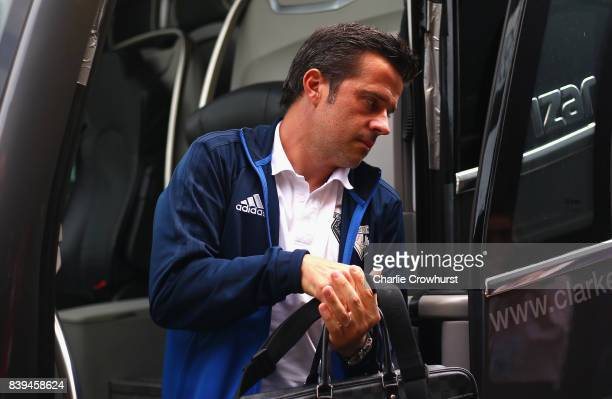 Marco Silva Manager of Watford arrives at the stadium prior to the Premier League match between Watford and Brighton and Hove Albion at Vicarage Road...