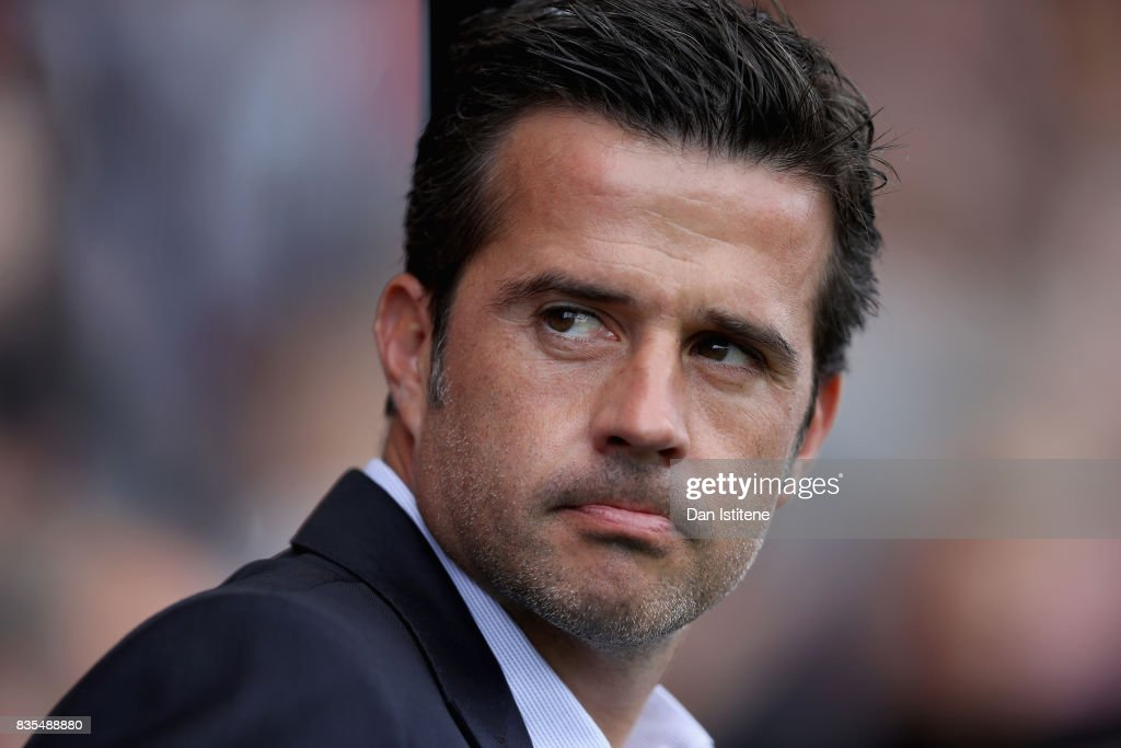 Marco Silva, Manager of Watford looks on prior to the Premier League match between AFC Bournemouth and Watford at Vitality Stadium on August 19, 2017 in Bournemouth, England.