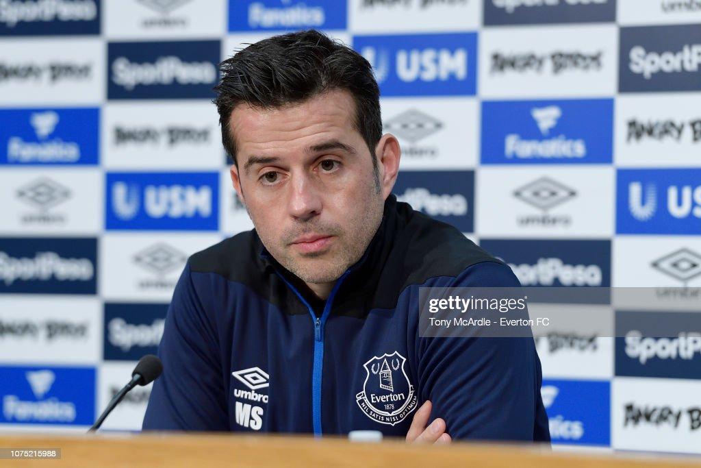 Everton Press Conference : News Photo