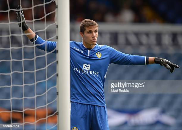Marco Silvestri of Leeds United during a preseason friendly match between Leeds United and Dundee United at Elland Road on August 2 2014 in Leeds...