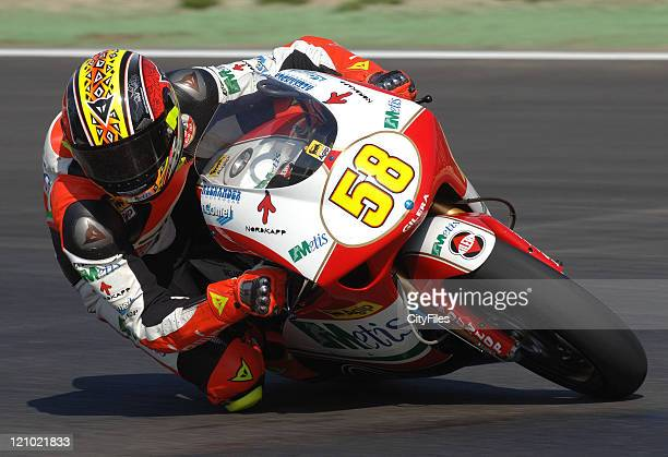 Marco Simoncelli during training for the 2006 Estoril Moto GP in Estoril Portugal on October 14 2006