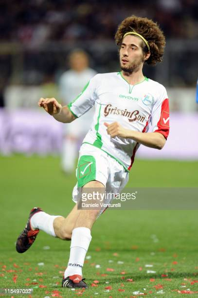 Marco Simoncelli of Telethon Team in action during the XIX Partita Del Cuore charity football game at on May 25 2010 in Modena Italy