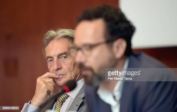 Marco Solari President of Locarno Film Festival and Carlo Chatrian Artistic Director of the Festival of the film Locarno attend the 2018 Locarno Film...