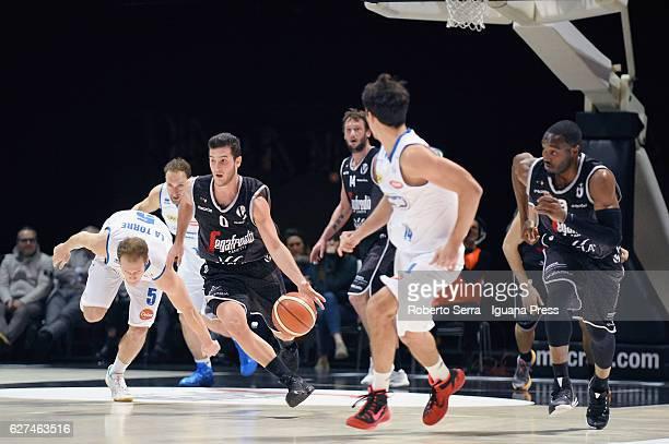 Marco Spissu and Guido Rosselli and Michael Umeh of Segafredo competes with Andrea La Torre and Tommaso Rinaldi and Andrea Saccaggi of De Longhi...