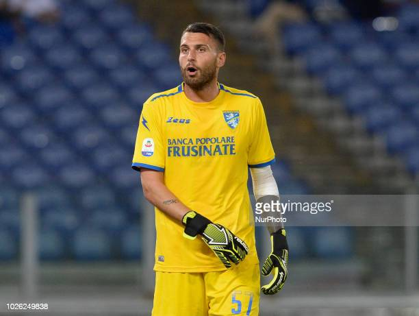 Marco Sportiello during the Italian Serie A football match between SS Lazio and Frosinone at the Olympic Stadium in Rome on september 02 2018