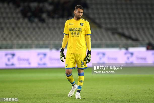 Marco Sportiello of Frosinone Calcio during the Serie A football match between Torino Fc and Frosinone Calcio Torino Fc wins 32 over Frosinone Calcio