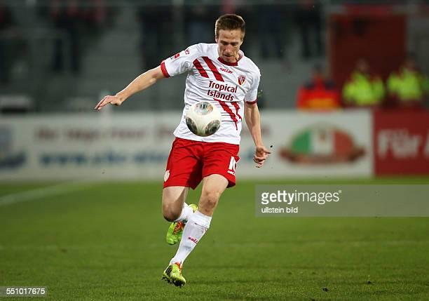 Marco Stiepermann Einzelbild Aktion FC Energie Cottbus zweite Bundesliga Sport Fußball Fussball Stadion der Freundschaft Cottbus Herren DFL Saison...