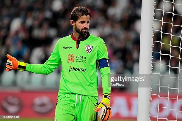 Marco Storari during Serie A match between Juventus v Cagliari in Turin on September 21 2016