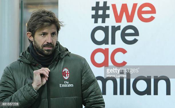 Marco Storari of AC Milan looks on before the TIM Cup match between AC Milan and AC Torino at Giuseppe Meazza Stadium on January 12 2017 in Milan...