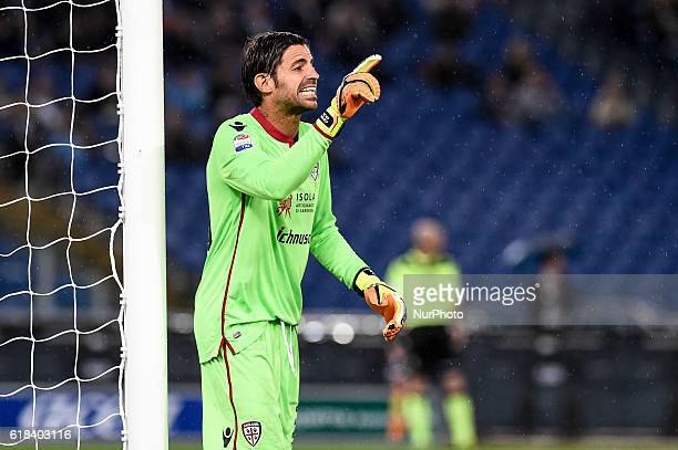 Marco Storari of Cagliari during the Serie A match between Lazio v Cagliari on October 26 2016 in Rome Italy