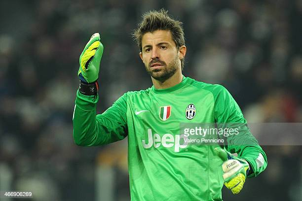 Marco Storari of Juventus during the Serie A match between Juventus and FC Internazionale Milano at Juventus Arena on February 2 2014 in Turin Italy