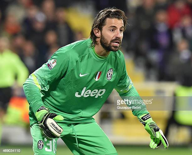 Marco Storari of Juventus FC in action during the TIM cup match between ACF Fiorentina and Juventus FC at Artemio Franchi on April 7 2015 in Florence...