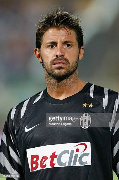 Marco Storari of Juventus FC looks on before the pre season friendly match between Juventus FC and Olimpic Lyon at Stadio San Vito on July 24 2010 in...