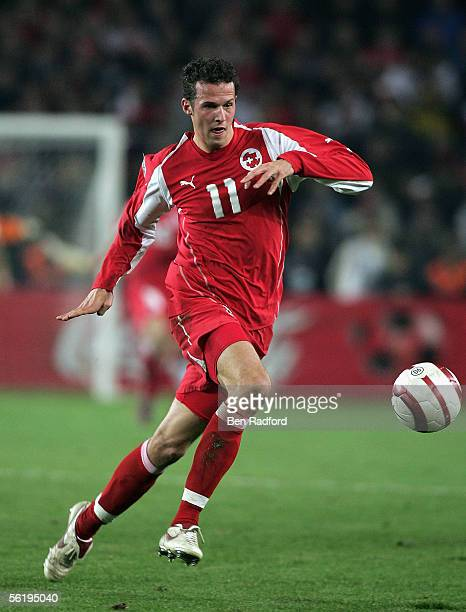 Marco Streller of Switzerland in action during the FIFA World Cup Playoff, 2nd Leg match between Turkey and Switzerland at The Sukru Saracoglu...