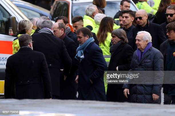 Marco Tardelli and Bruno Conti during the funeral of Davide Astori on March 8 2018 in Florence Italy The Fiorentina captain and Italy international...