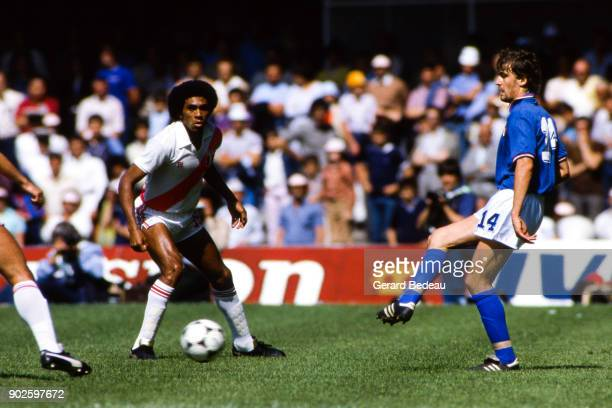 Marco Tardelli of Italy during the World Cup match between Italy and Peru at Balaidos Stadium Vigo Spain on 18h June 1982