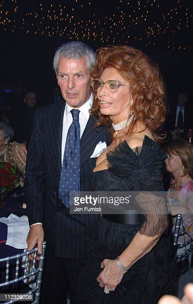 Marco Tronchetti and Sophia Loren during 2007 Pirelli Calendar Launch Cocktail Reception and Gala Dinner at Battersea Evolution in London Great...