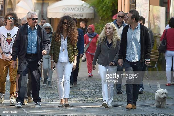 Marco Tronchetti Provera, Afef Jnifen and Franca Sozzani are seen on April 26, 2014 in Portofino, Italy.