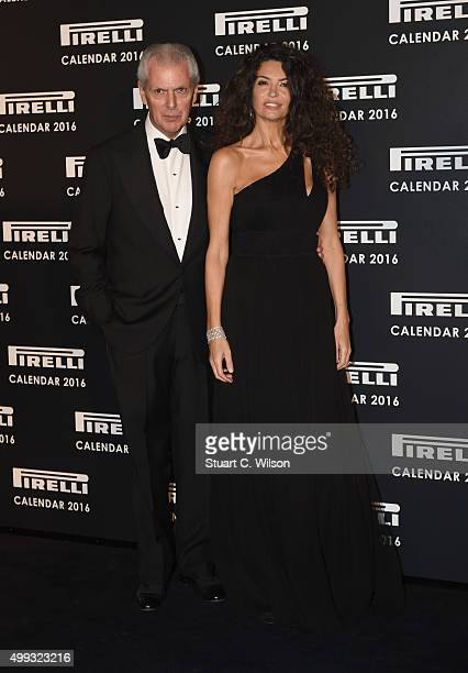 Marco Tronchetti Provera and Afef Tronchetti Provera attend the Gala Evening To Celebrate The Pirelli Calendar 2016 By Annie Leibovitz at The...