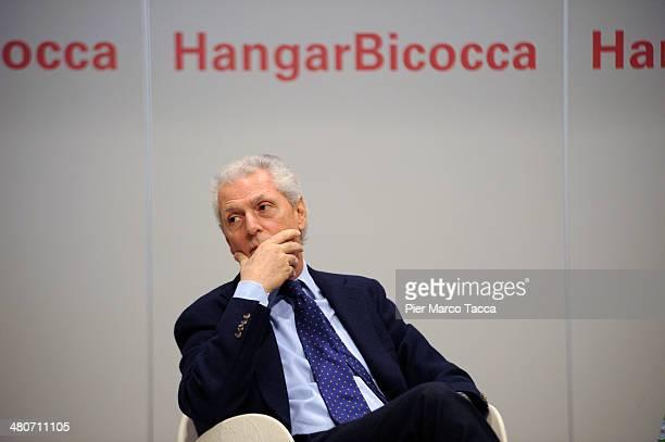 Marco Tronchetti Provera attends the 'Cildo Meireles, Installation' exhibition presentation at HangarBicocca on March 26, 2014 in Milan, Italy.