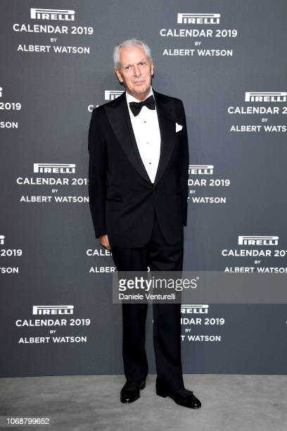 Marco Tronchetti Provera walks the red carpet ahead of the 2019 Pirelli Calendar launch gala at HangarBicocca on December 5, 2018 in Milan, Italy.