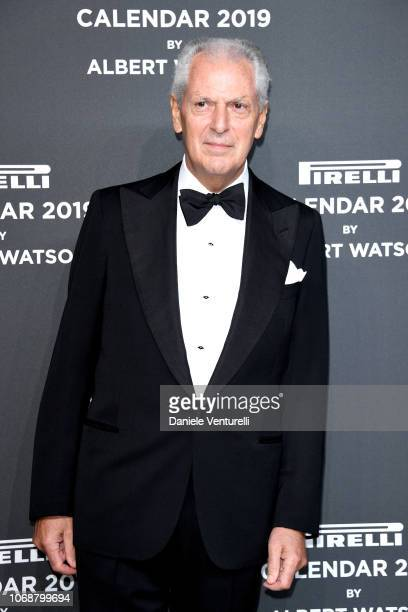 Marco Tronchetti Provera walks the red carpet ahead of the 2019 Pirelli Calendar launch gala at HangarBicocca on December 5 2018 in Milan Italy