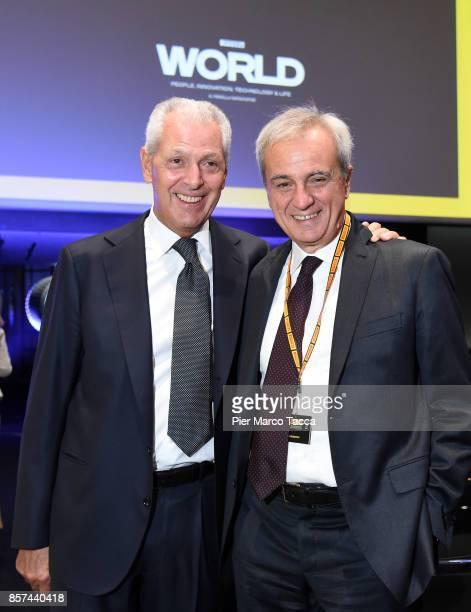 Marco Tronchetti Provero CEO of Pirelli and Maurizio Boiocchi General Manager Technology di Pirelli attend the ceremony of the return of Pirelli to...