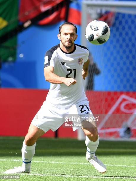 Marco Ureña of Costa Rica in action during the 2018 FIFA World Cup Russia group E match between Brazil and Costa Rica at Saint Petersburg Stadium on...