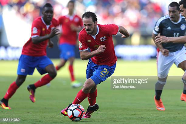 Marco Urena of Costa Rica chases the ball during the 2016 Copa America Centenario Group A match between Costa Rica and Paraguay at Camping World...