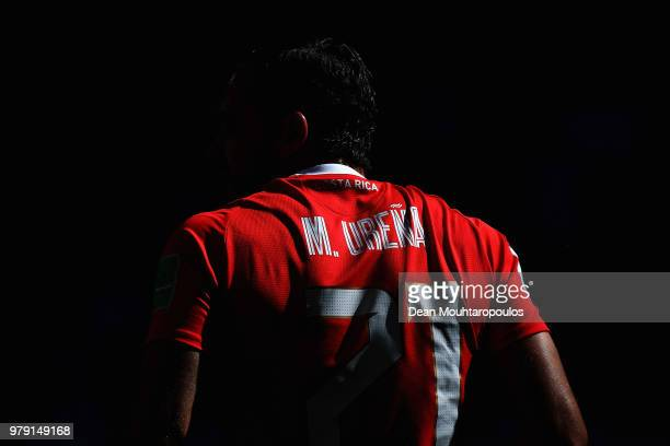 Marco Urena of Costa Rica looks on during the 2018 FIFA World Cup Russia group E match between Costa Rica and Serbia at Samara Arena on June 17, 2018...