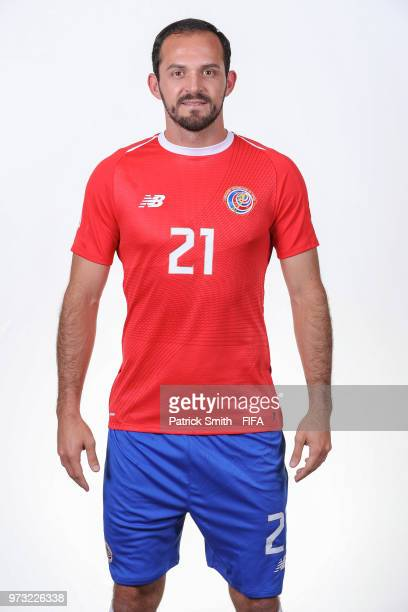 Marco Urena of Costa Rica poses for a portrait during the official FIFA World Cup 2018 portrait session at the Hilton Saint Petersburg ExpoForum on...