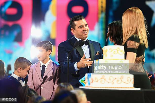Marco Valastro Buddy Valastro Jr TV personality Buddy Valastro accepts the Favorite Cooking Show Award for 'Cake Boss' from actresses Sarah Hyland...