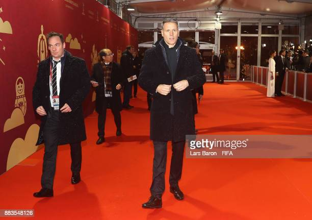 Marco van Basten arrives prior to the Final Draw for the 2018 FIFA World Cup Russia at the State Kremlin Palace on December 1 2017 in Moscow Russia