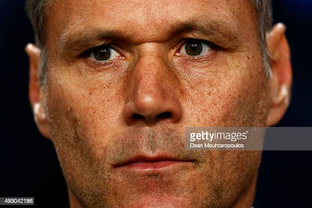 Marco van Basten assistant manager of the Netherlands looks on prior to the Group A UEFA EURO 2016 qualifying match between Netherlands and Czech...