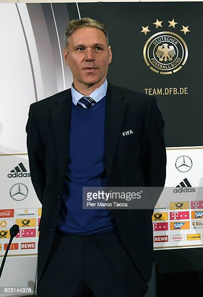 Marco Van Basten attends the Video Referee press conference at Hotel Melia on November 14 2016 in Milan Italy
