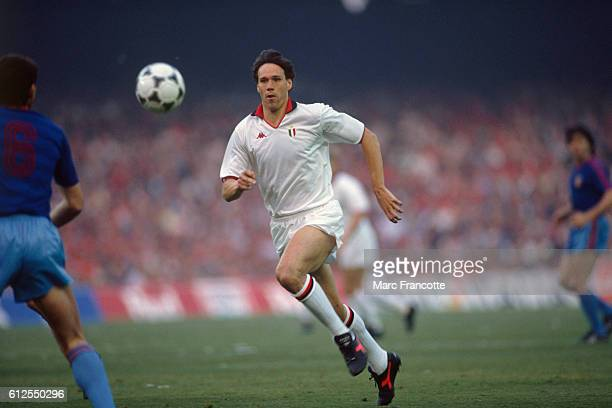 Marco Van Basten from AC Milan during the 19881989 European Club Champions AC Milan won over Steaua Bucaresti 40 | Location Barcelona Spain