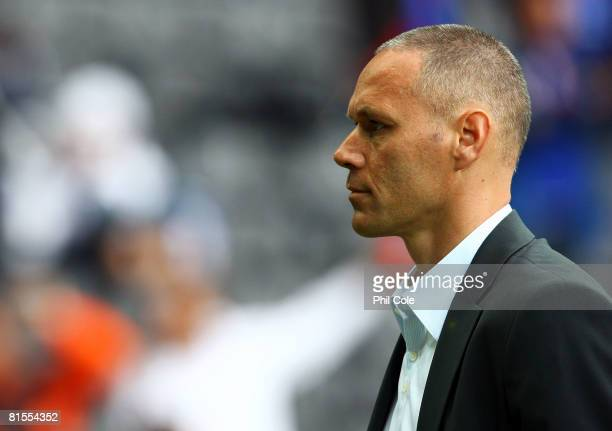 Marco van Basten, head coach of Netherlands is pictured ahead of the UEFA EURO 2008 Group C match between Netherlands and France at Stade de Suisse...