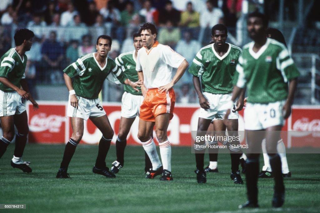 Soccer - World Cup Italia 90 - Group F - Holland v Egypt : News Photo