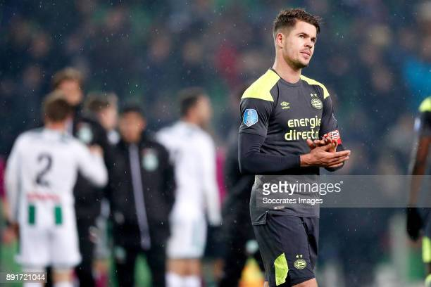 Marco van Ginkel of PSV during the Dutch Eredivisie match between FC Groningen v PSV at the NoordLease Stadium on December 13 2017 in Groningen...